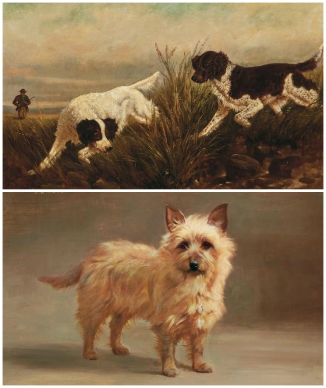 Dog paintings from Doyle Auctions
