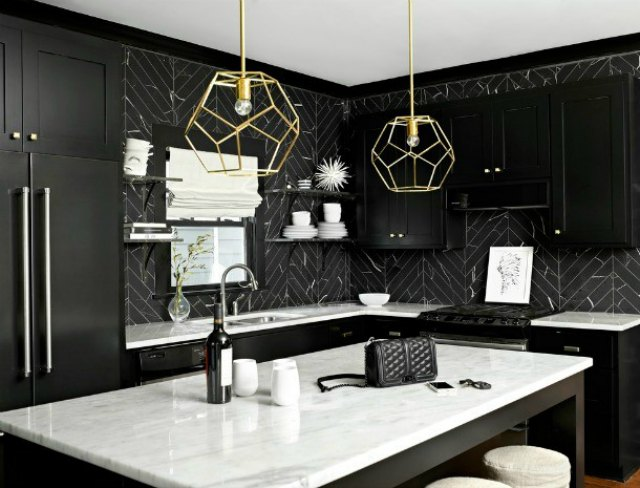 The Beauty of Black and White April Tomlin Kitchen