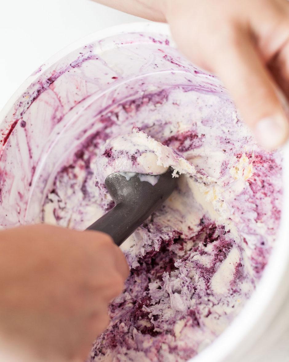 Clumpies Sweet Corn Blueberry Swirl Ice Cream