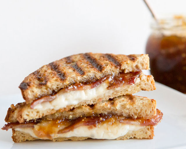 Recipe: Gluten Free Bacon and Goat Goude Grilled Cheese