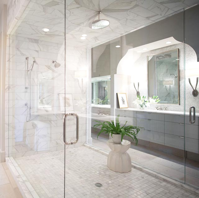 Revival Interiors Marble Bathroom