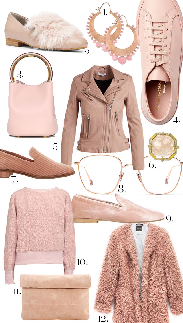 Pale Pink, Rose, adn Quartz Fall Fashion and Assessories