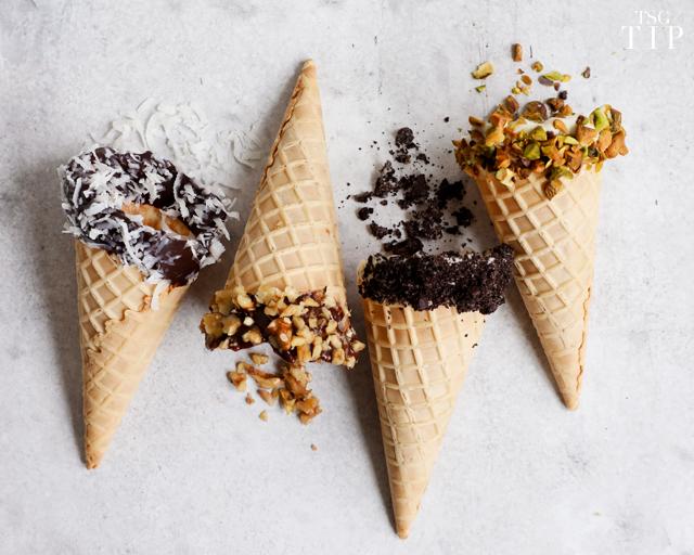 elevated ice cream cones tip