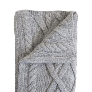 Purchase Cable Knit Baby Alpaca Throw
