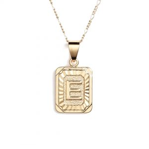 Buy Bracha Gold Filled Initial Card Necklace at Maude Boutique
