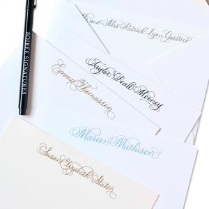 Purchase 50 engraved notecards with free calligraphy name