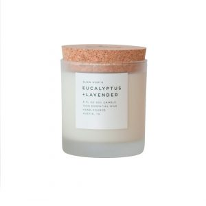 Purchase Eucalyptus and Lavender Frosted Candle