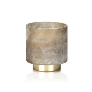 Purchase Tobacco Flower Candle in Taupe Glass Jar