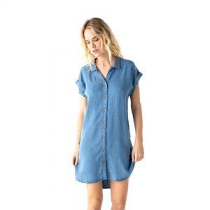 Purchase Denim Chambray Dress
