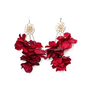 Purchase Peri Red Multi-floral Earrings