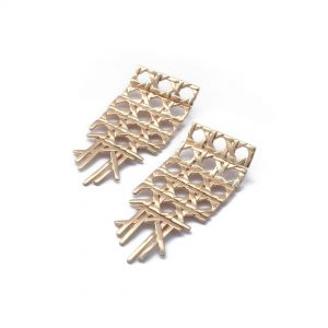Purchase Cane Earrings in Gold