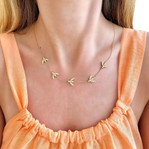 Purchase 5 Station Bee Necklace