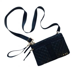 Purchase Black Quilted Convertible Bag
