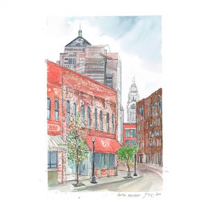 Purchase North Market Vista Columbus Giclee Print