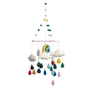 Purchase Wool Felt Rainbow & Clouds Mobile