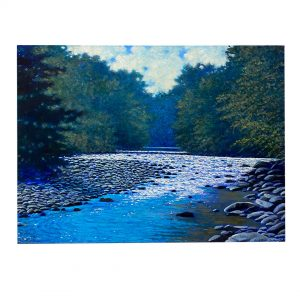 """Purchase """"Sings the River"""" by Janet Green Jacobson at Woodlands Gallery"""