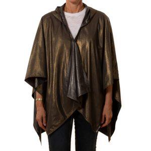 Buy Hooded Dark Gray Gold Metallic RAINRAP at RAINRAP